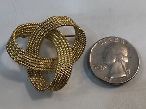 18k-Gold-Tiffany-Style-Large-Woven-Rope-Design-Pin-Brooch-Estate-Piece-17g