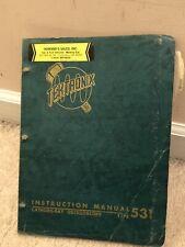 Tektronix Type 531541 Cathode Ray Oscilloscope Instruction Manual 0200