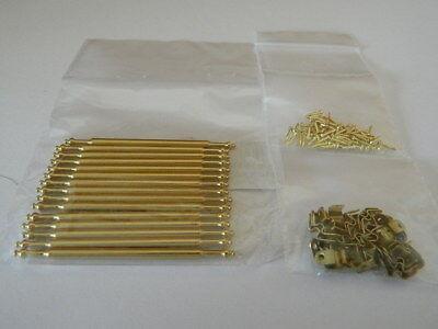 (a1.26) 1/12th Scala Casa Delle Bambole Scala In Metallo Color Oro Rod Set-mostra Il Titolo Originale