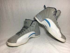 0b309626c690 Nike Air Jordan 12 XII Retro Grey University Blue UNC Men s Size 10 ...