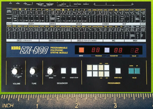 KORG DW 8000 6000 DSS-1 DS-8 EX TRIDENT Delta SYNTHESIZER REFRIGERATOR MAGNET