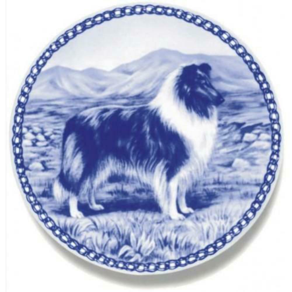 Collie - Rough Blau Merle - Dog Plate made in Denmark from the finest European P