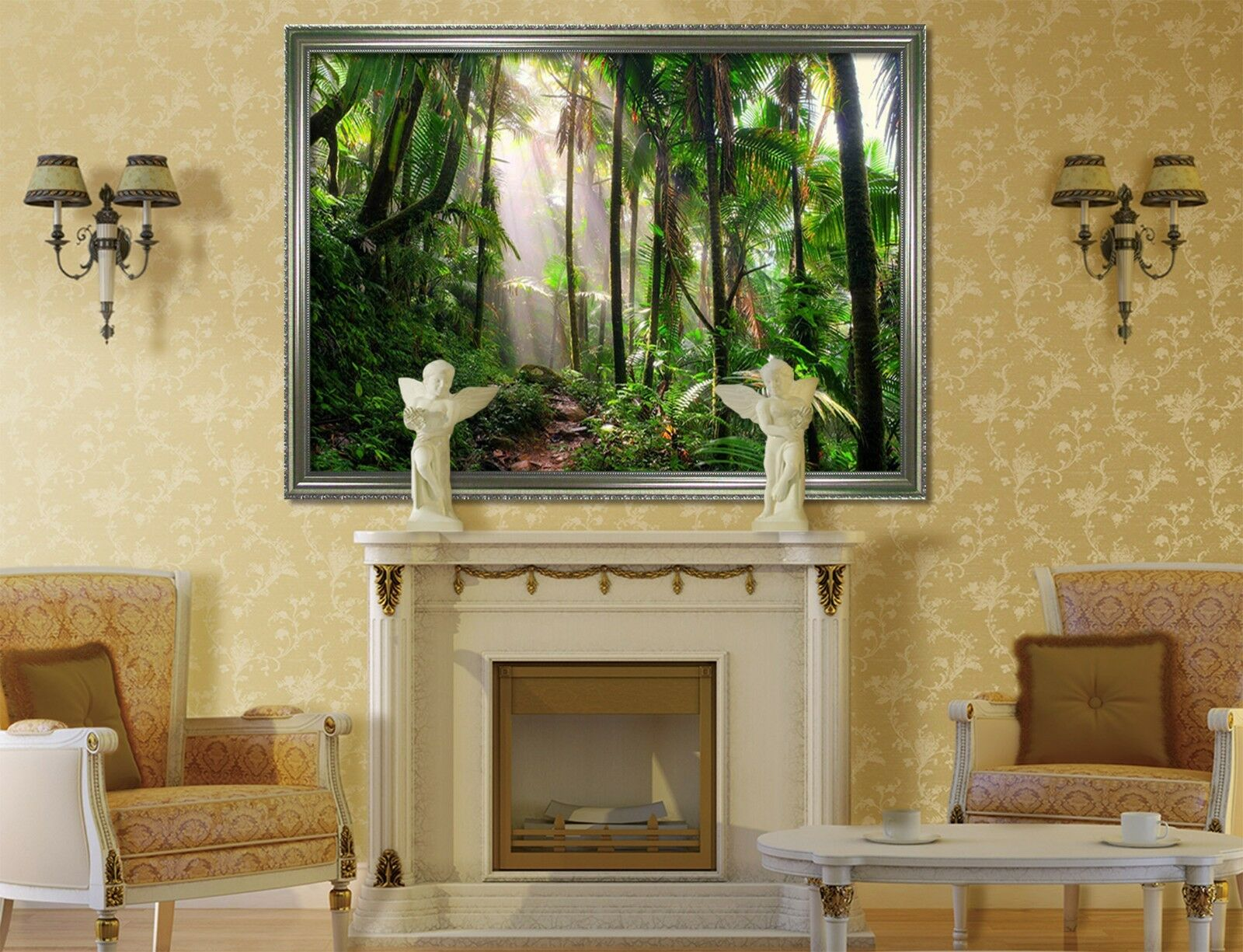 3D Tropical Forest Path 1 Framed Poster Home Decor Print Painting Art WALLPAPER