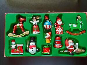 10 VTG Wooden Christmas
