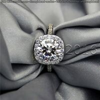 Genuine 1.99CT Off White Yellow Moissanite Ring Wedding Ring 925 Silver Ring A07
