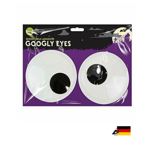 XXL Wackelaugen Riesen 14,5cm Googly Eyes  Leuchtet im Dunkel Selbstklebende