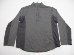 DéVoué Reebok Pull Homme Taille L 1/4 Zip Gris-afficher Le Titre D'origine Art De La Broderie Traditionnelle Exquise