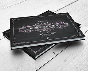 g stebuch blackboard mit fragen hochzeit chalkboard. Black Bedroom Furniture Sets. Home Design Ideas