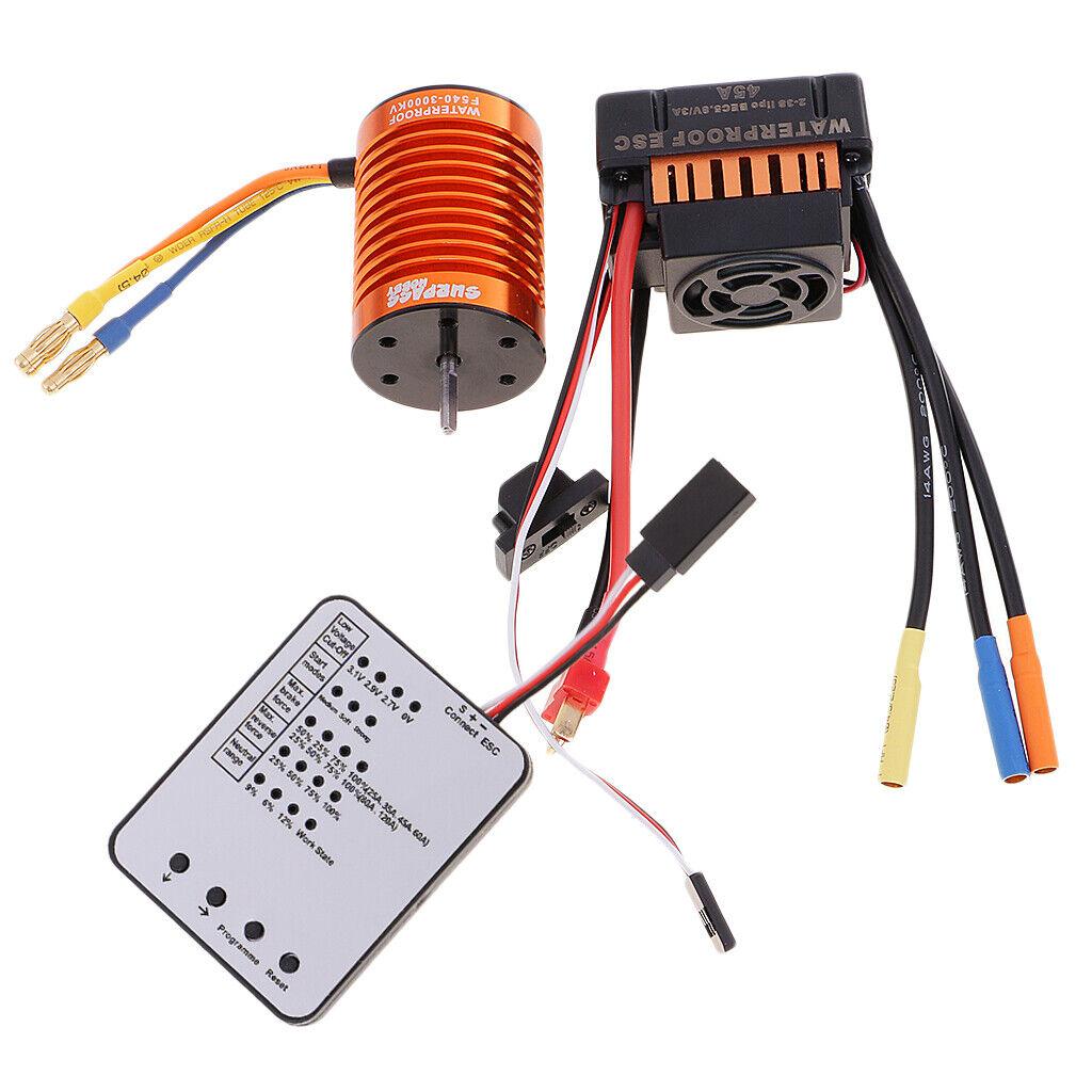 F540 3000kv MOTORE BRUSHLESS 45a + ESC  + LED programma scheda per 1 10 RC Auto  autentico online
