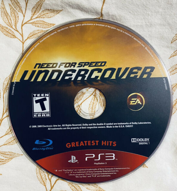 Need for Speed: Undercover - Greatest Hits - PlayStation 3 PS3 - Disc Only