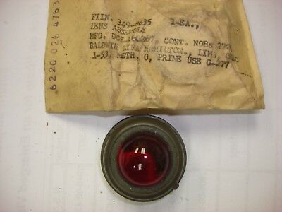 NOS MILITARY DASH LIGHT INDICATOR LENS ONLY  RED !!!