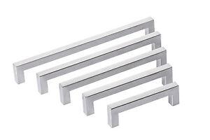 Dettagli su Acciaio Inox Manico a Stanga Maniglie per Mobili Porta Cucina  Angolare 10x10mm