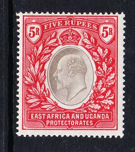 EAST AFRICA & UGANDA PROTECTORATES 1903-04 5r GREY & RED SG 13 MINT.