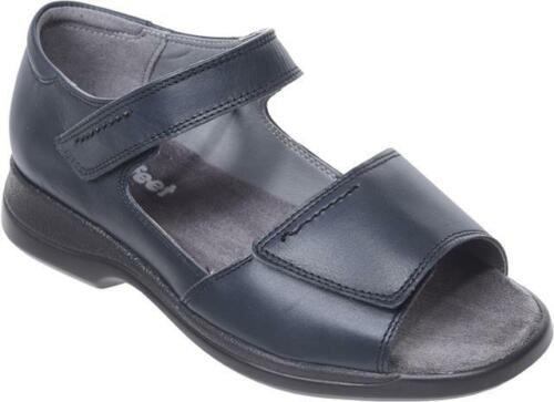 Cosyfeet Extra Roomy Sunrise Womens Sandals Navy 6E Fitting UK Sizes Available