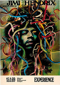 A0 A1 A2 A3 A4 Jimi Hendrix Vintage Classic Poster Art Print