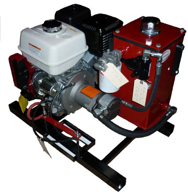 POWER HYDRAULIC LOWBOY GAS HYDRAULIC POWER UNIT TRAILER PONY MOTOR HONDA GX  390