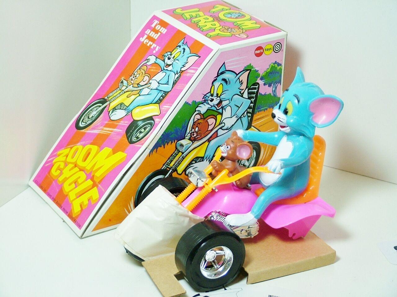 Marx Marx Marx 5157 Tom & Jerry Zoom Cycle Trike Motorcycle 1973 RARE  2 5154b6
