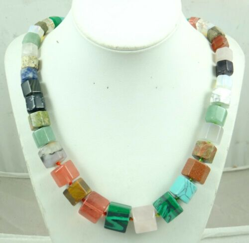 Beautiful mix agate beads pendant Handmade Gemstone Jewellery Necklace AA/_7