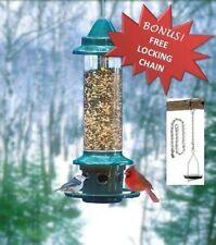 BROME SQUIRREL BUSTER PLUS 1024 SQUIRREL PROOF BIRD FEEDER + FREE LOCKING CHAIN