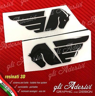 2 Adesivi Resinati Sticker 3D BUELL silver /& blu