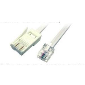 Rj11 Bt Téléphone Prise 10m Câble Pour Analogique Modem Gb