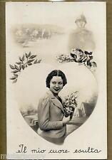 Il mio cuore esulta Donnina Soldato WWII PC Circa 1940