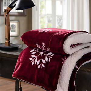 Christmas Blankets.Details About Christmas Blanket For Winter Travel Sofa Luxury Fleece Blankets For Bed Warm
