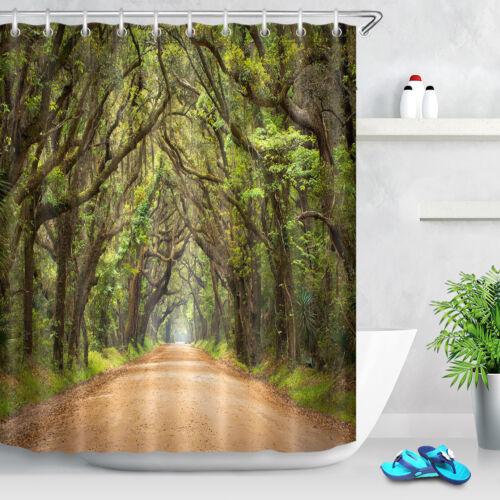 """La route traverse la jungle Rideau de douche original Forst bain Curtians Mat Rug72X72/"""""""