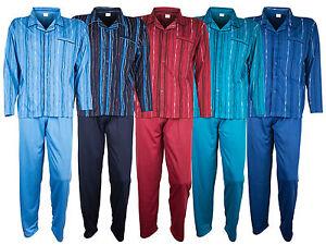 Herren-Pyjama-von-SOUNON-100-Baumwolle-5-Farben
