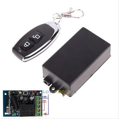 DC 12v 10A relay 1CH wireless RF Remote Control Switch Transmitter+ Receiver #L