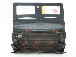 Genuine-Cowhide-Leather-Ladies-RFID-Wallet-Red-Black-Tan-amp-Brown-7502-R-CAN