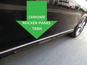 Cromo Rocker Panel Moldura Moldeo Por Lado De Cuerpo 2pc