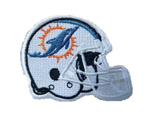 SPEDIZIONE LAMPO * Miami Dolphins Casco//Helmet PATCH RICAMATE 6 x 5 cm NFL