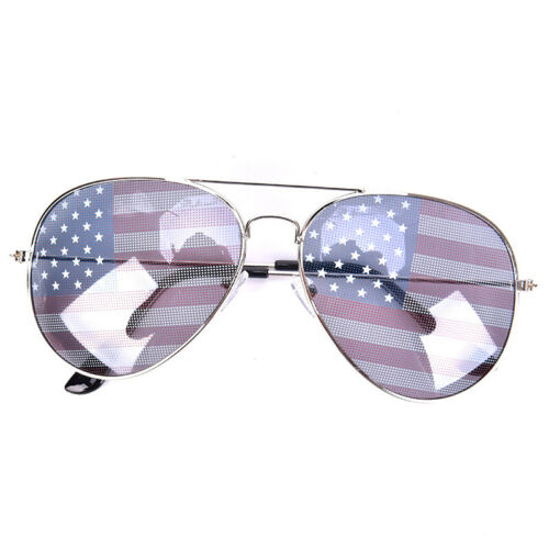 New Patriotic Sunglasses American Flag USA Lens Star Stripe Pilot Shades PatHGU