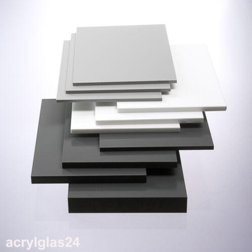 PVC vierkant Stab 66 €//m 50x50mm grau PVC Stab Polyvinylchlorid Stange