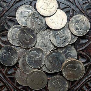 Eisenhower-039-Ike-039-Dollar-Coin-Roll-Twenty-20-Mixed-Date-Coin-Lot-1971-1978