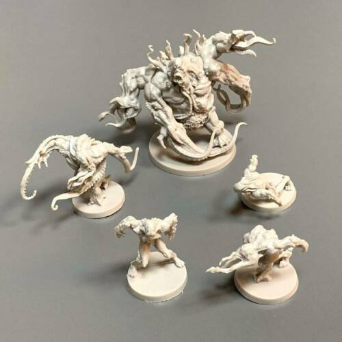 5PCS Zombicide Invader Spoiler Abomination Hunter Miniatures DND Board Games