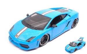 Lamborghini-Gallardo-LP-560-4-Light-Blue-Exotics-1-24-Model-MAISTO