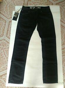 Richmond-Pantalone-5-Tasche-Jeans-Uomo-in-Cotone-Col-Nero-TG-31-Nuovo