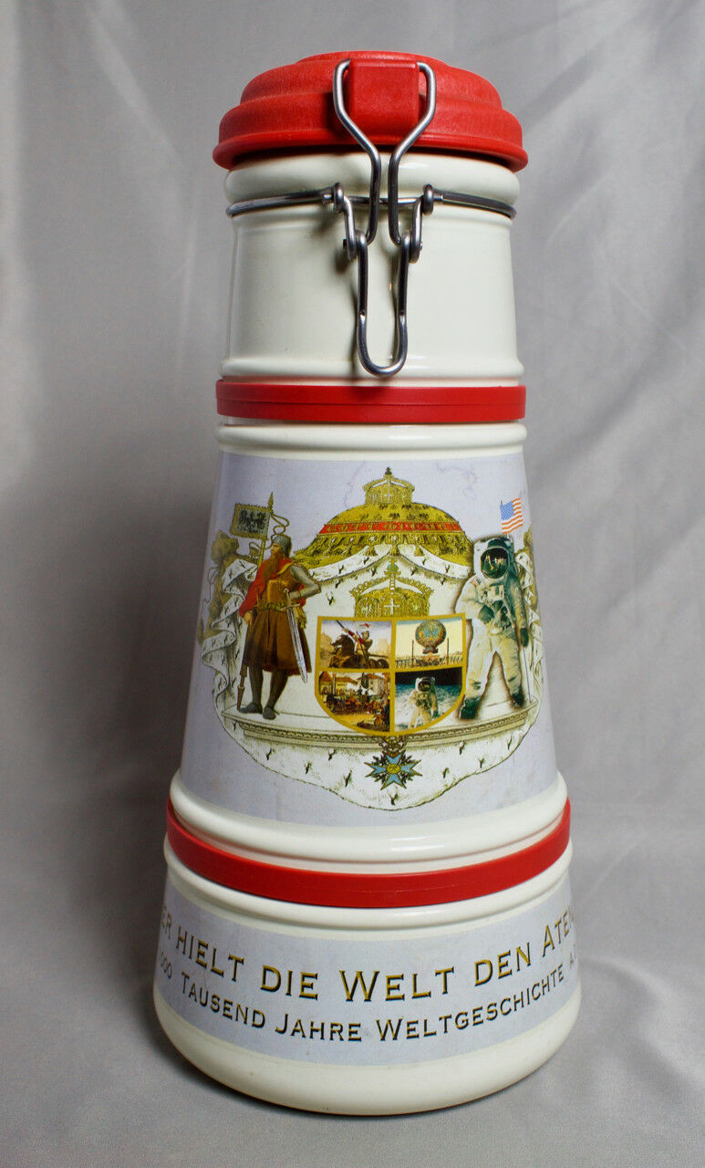 Large Ceramic Lidded Growler Stein from Germany