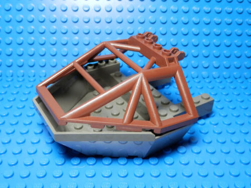 LEGO 12x10x2 2//3 Dark Gray Cockpit 10x14x2 2//3 Brown Windscreen Rock Raiders