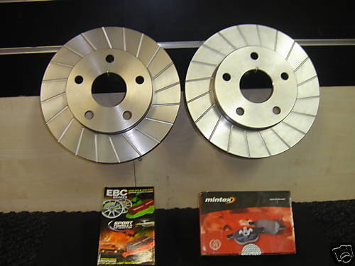 FOR TOYOTA  MR2 MK2 SW20  REV1 GROOVED FRONT  BRAKE DISC 258MM  PAIR