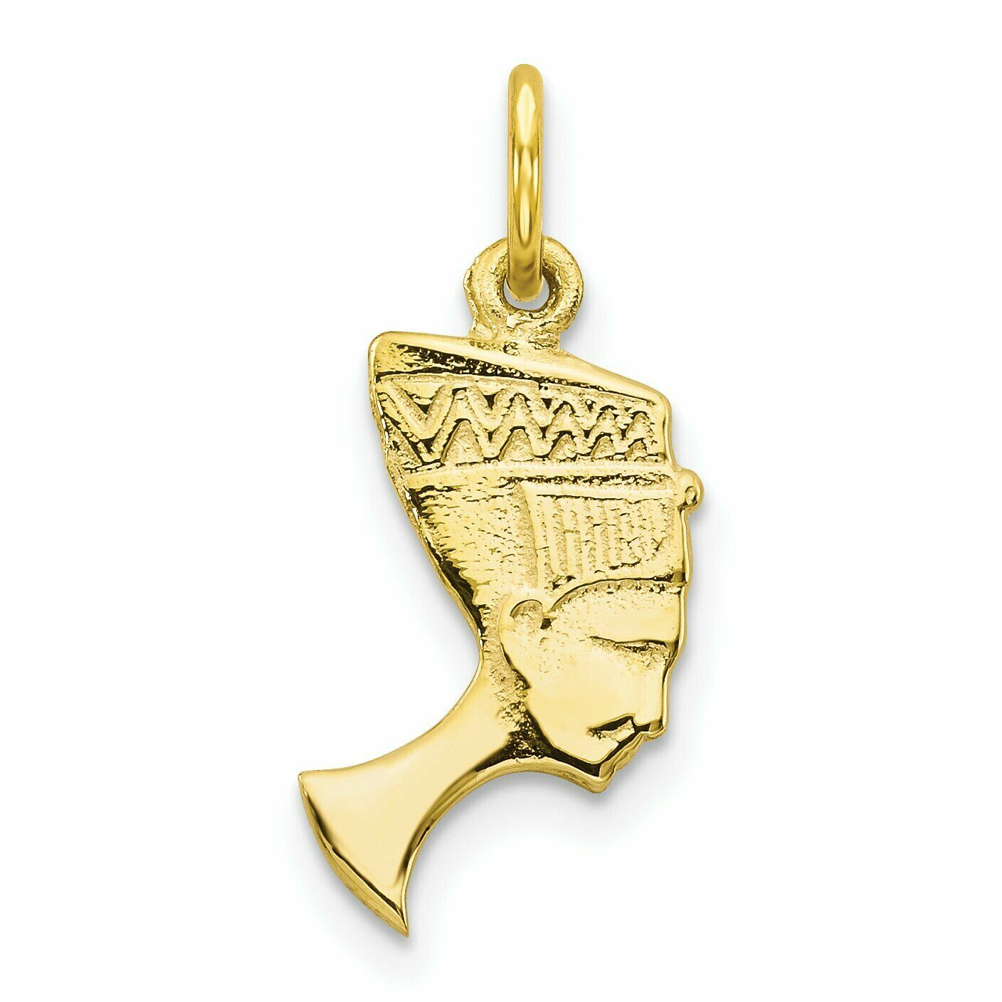 10K Yellow Gold Queen Nefertiti Charm FindingKing