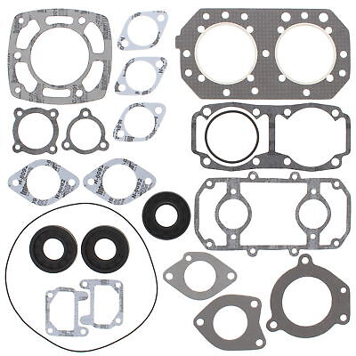New Gasket Set with Oil Seals for Kawasaki JS 550 82-90