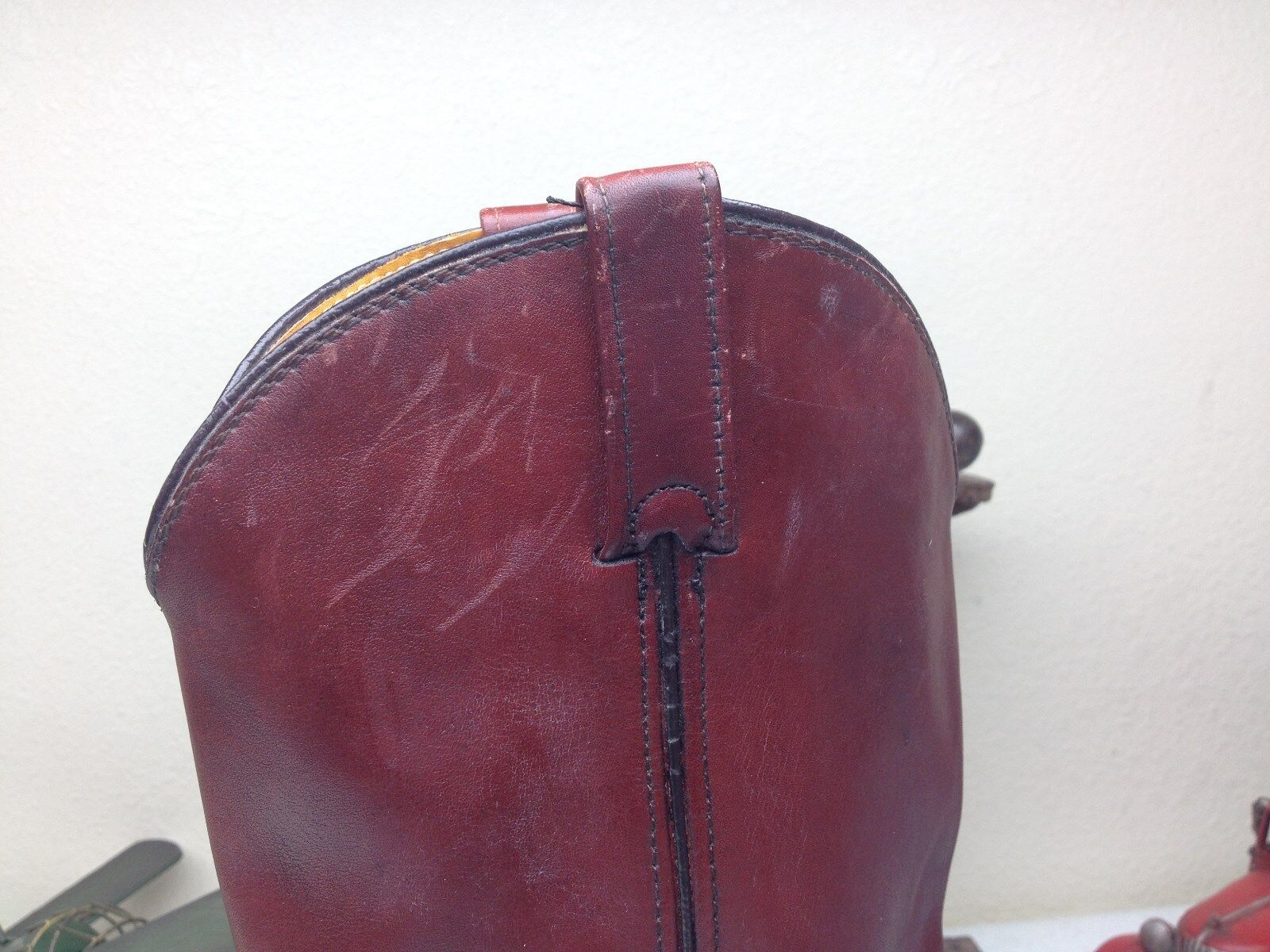 RICHLAND DOUBLE H DISTRESSED DISTRESSED DISTRESSED BURGUNDY LEATHER Stiefel Größe 9 EE daa4e5