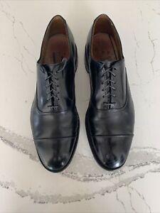 """Allen Edmonds """"Park Avenue"""" Cap-Toe Men's Oxfords 10.5 D Black DAINITE SOLES"""