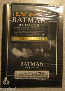 BATMAN RETURNS Atari Lynx NEW Cartridge and Manual NO BOX