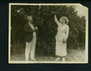 Charles-Squire-Ebbets-amp-Wife-1923-TYPE-1-Press-Photo-Brooklyn-Dodgers-Clearwater