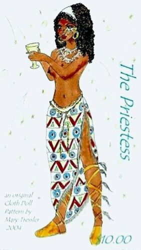 """*NEW* CLOTH ART DOLL PATTERN  /""""THE PRIESTESS/"""" BY MARY TRESSLER"""
