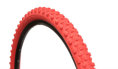 1 PAIR 2 TYRES MOUNTAIN BIKE MTB TYRES TIRES 26 x 2.10 ALL RED M1101